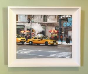 NY cab framed